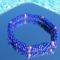 Bracelet en tissage peyotl - peyote stitch bangle