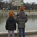 Froid au jardin du luxembourg