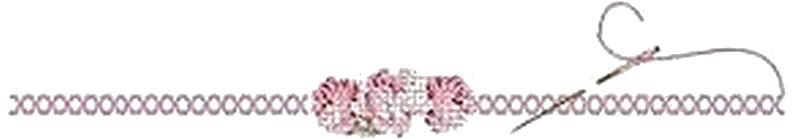 point de croix et fleurs