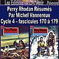 Perry rhodan résumés - cycle 4 - 170 à 179