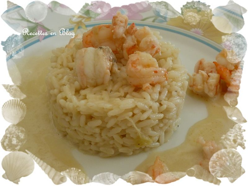 riz cremeux aux langoustines et gambas sauce au curry recettes en blog. Black Bedroom Furniture Sets. Home Design Ideas