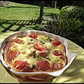 Clafoutis tomates cerises et brocoli