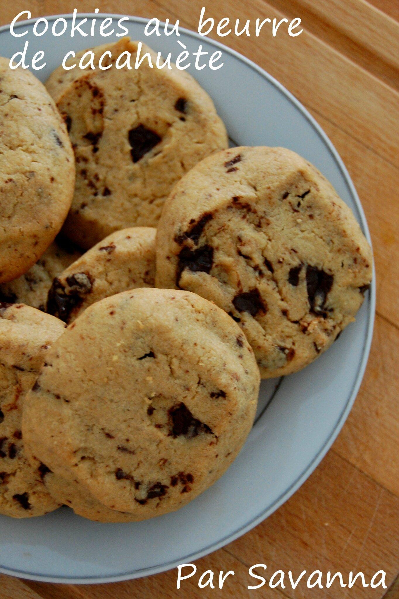 Cookies au beurre de cacahu te aiguilles gourmandises - Cookies beurre de cacahuete ...