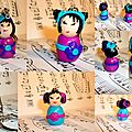 Collection de kokeshi