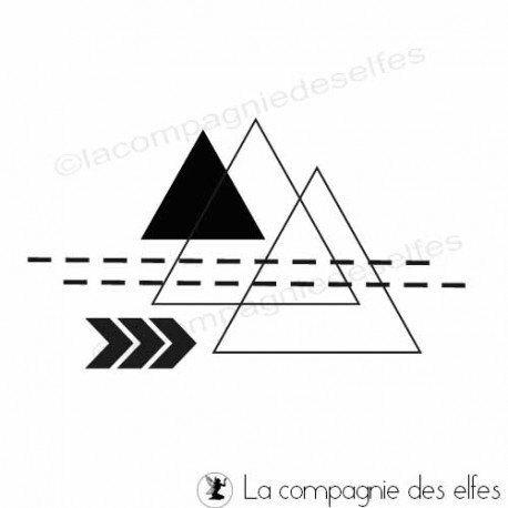 tampon-frenesie-graphique-triangle