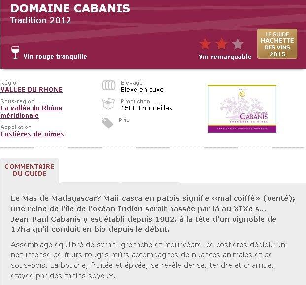 Hachette 2015 CABANIS