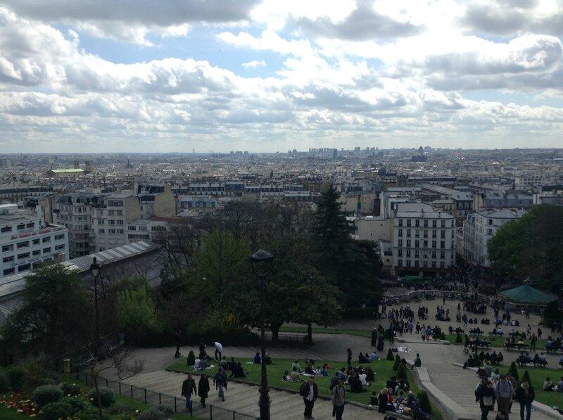 Vue de Paris du haut de Montmartre