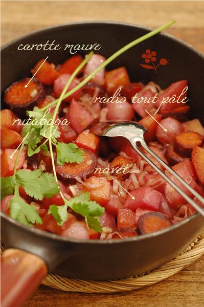 Poêlée carotte mauve, rutabaga, navet & radis_b