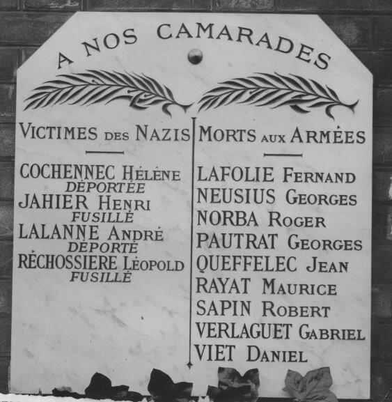 1940 monument SNCF Jean Queffelec