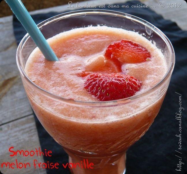 Smoothie Melon fraises