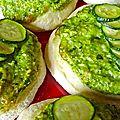 pizzette aux courgettes