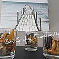 Moules de bouchot du vivier sur mer en verrines apéritives