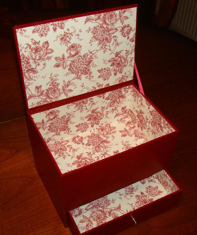 Une bo te bijoux loisirs et cie - Fabriquer une boite a bijoux avec une boite a chaussure ...
