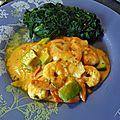 Curry de crevette coco coriandre