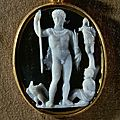 Roman Cameo, 1st-3rd century AD. Claudius as Caesar and God