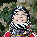 Ensemble snood + bonnet