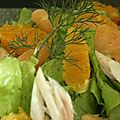 salade d'aile de raie et d'agrumes