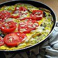 Frittata tomate, olive et parmesan