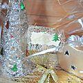 décor Noël sapin argenté photophore
