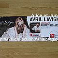 Panneau promotionnel Goodbye Lullaby-Virgin (2011)