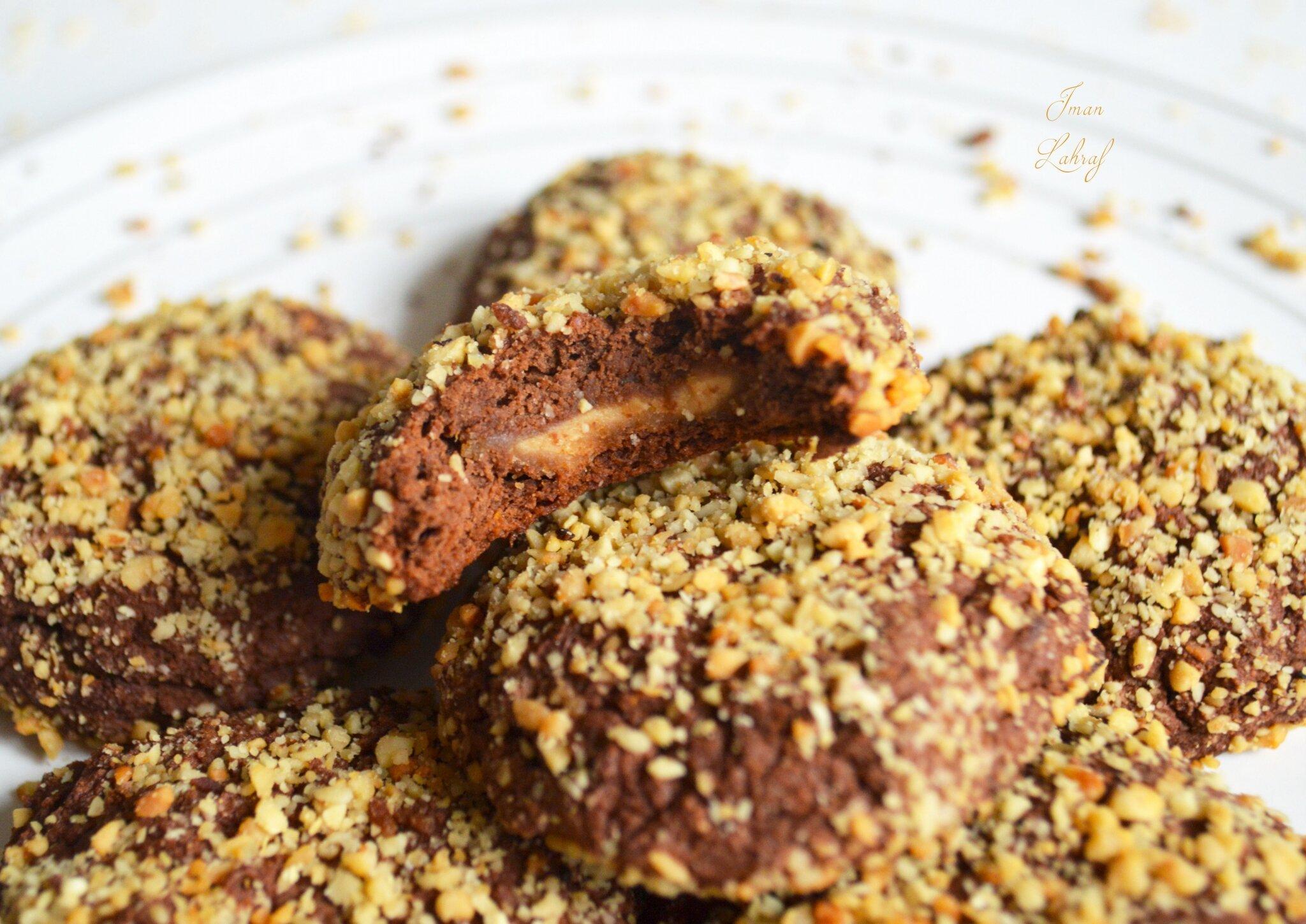 Brownies-biscuits à la courge fourrés au beurre de cacahuètes