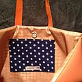 Sac VB orange poche étoilée