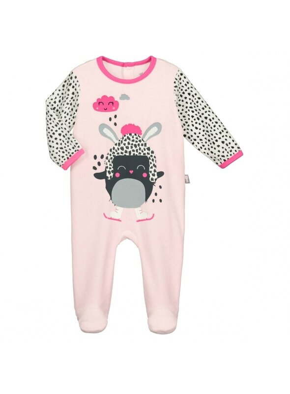 pyjama-bebe-velours-rose-bulle-de-coton