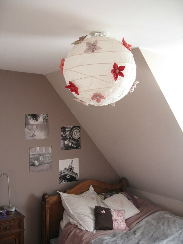 Une boule chinoise customis e th citron for Lampe en papier de riz