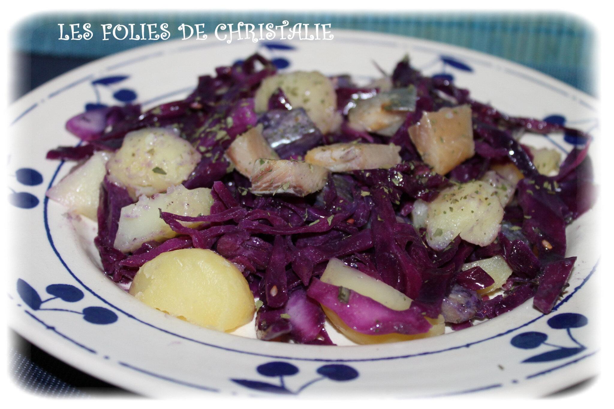 Chou rouge et harengs fum s en salade les folies de christalie ou quand la cuisine devient - Quand repiquer les salades ...