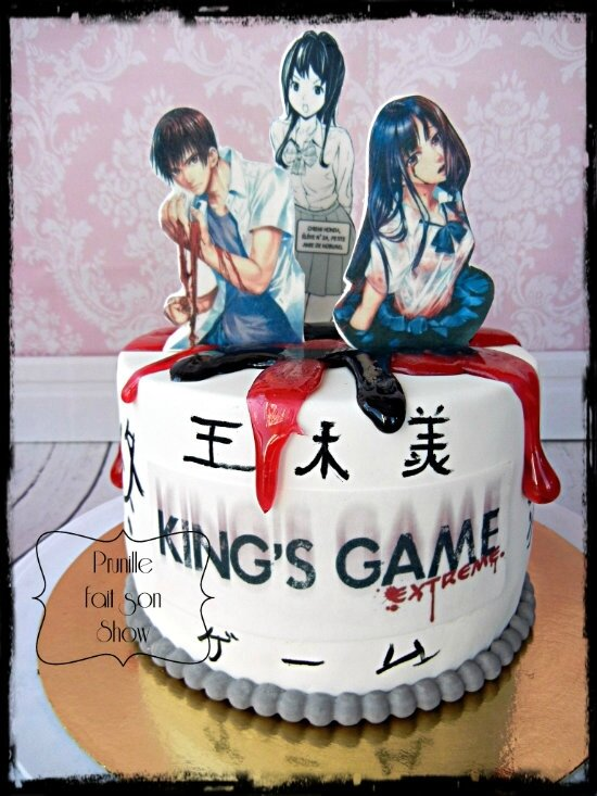 gateau japon manga kings game prunillefee 2