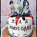Gateau manga #king' s game extrème { anniversaire de prunille 1 - les photos - le gateau }
