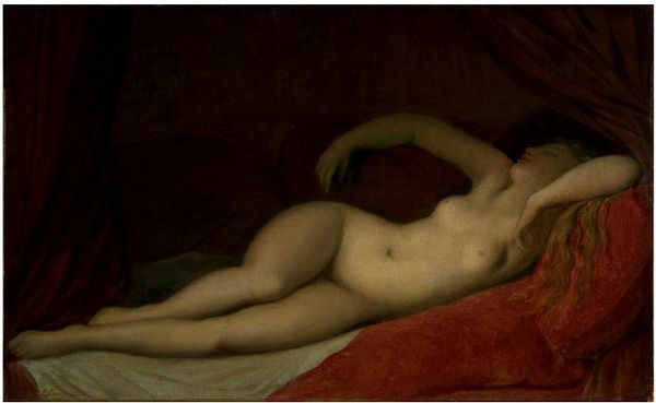 Ingre, A Sleeping Odalisque; Etude d'après la Dormeuse de Naples