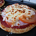 Blinis facon pizza
