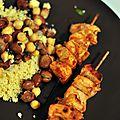 Brochettes de poulet chiche taouk