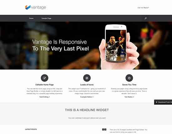 vantage free wordpress theme 2014