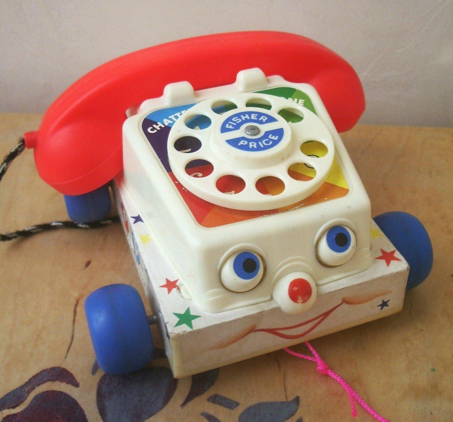 t l phone tirer chatter telephone fisher price vintage urbanbroc for kids. Black Bedroom Furniture Sets. Home Design Ideas