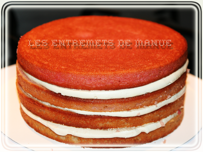 Layer cake framboise avant