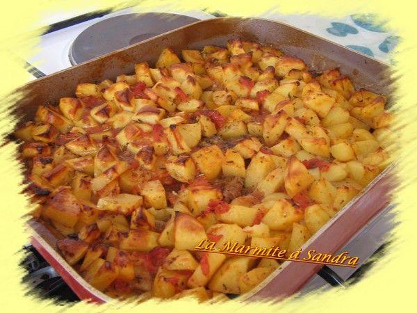 Pommes de terre au four la marmite sandra - Cuisse de poulet a la poele ...
