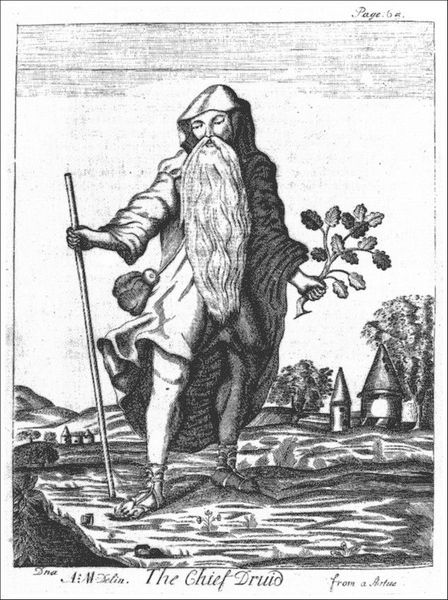 The Chief Druid from Mona Antiqua Restaurata - 1723