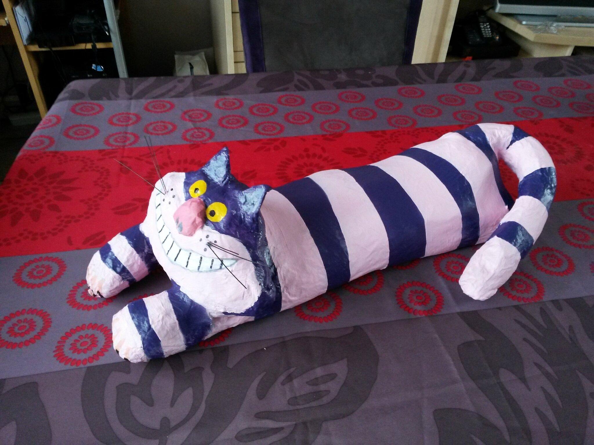 Le chat dans alice aux pays des merveilles les cr ations de katytortue - Decoration alice aux pays des merveilles ...