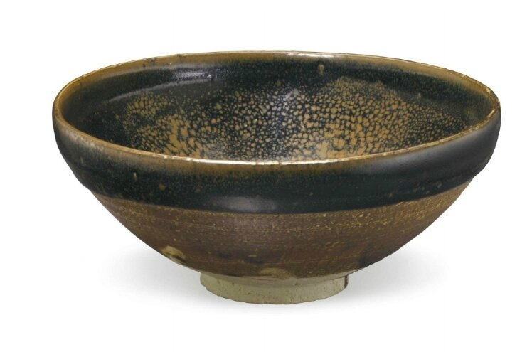 A large Cizhou-type russet 'oil-spot' bowl, China, Jin dynasty, 12th-13th century
