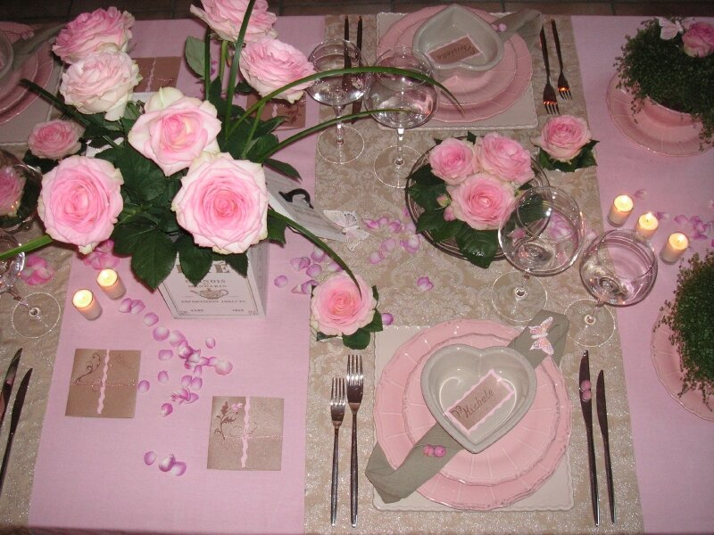 Table rabattable cuisine paris decoration de table orchidee for Decoration avec des roses