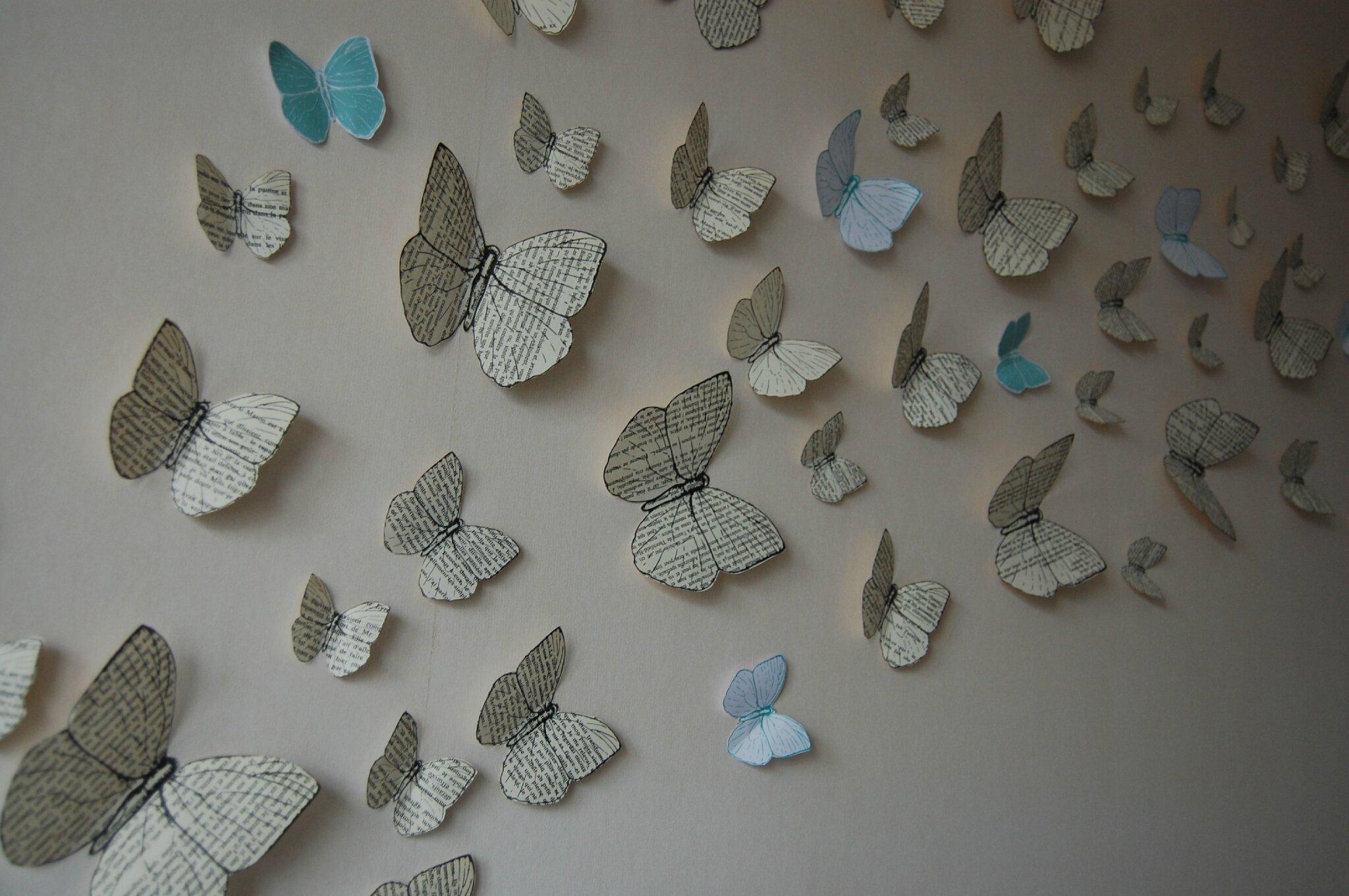 Diy des papillons de papier le salon de th le blog d 39 un lys dans l 39 atelier - Bricolage avec du papier ...