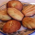 madeleines sans gluten ni lactose