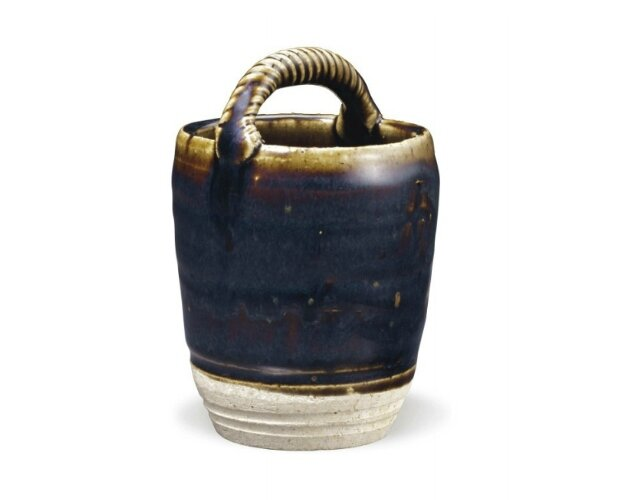 A small brown-glazed basket-form jar, China, Song-Jin Dynasty, 12th-13th century