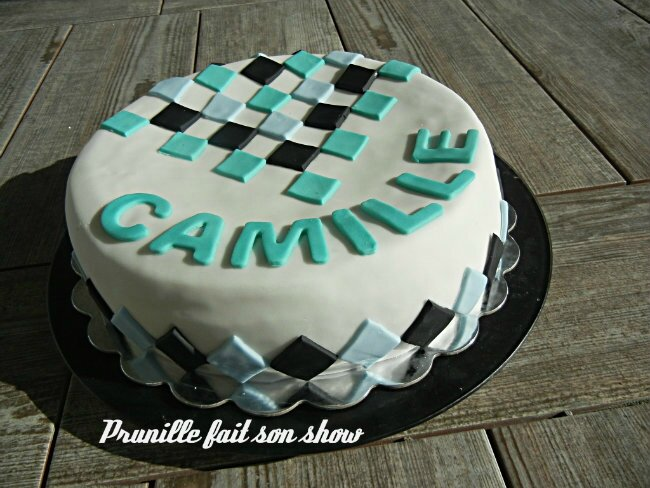 gateau camille losanges prunillefee