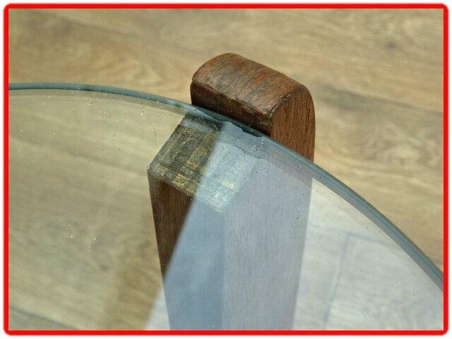 table basse design scandinave teck 1950