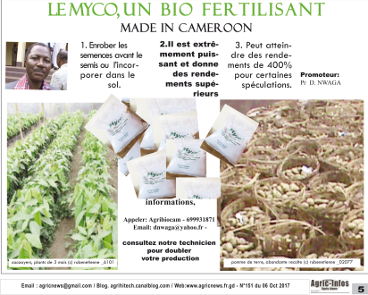 Le Myco, un biofertilisant made in Cameroon