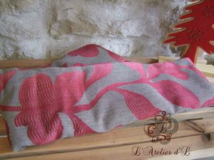 coussin chauffant rose