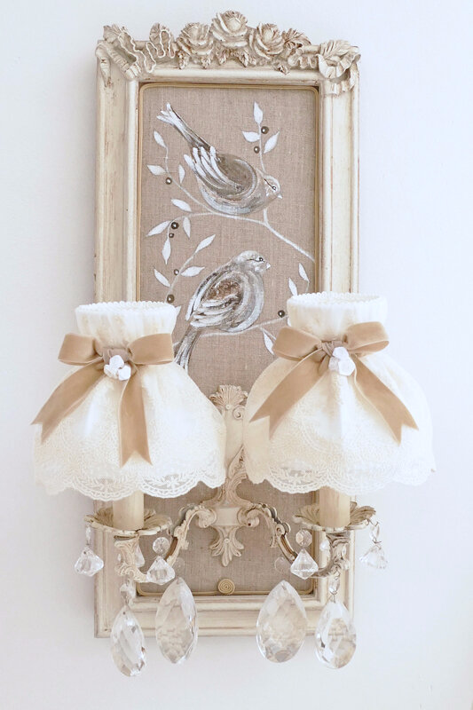 abat-jour dome shabby chic 2